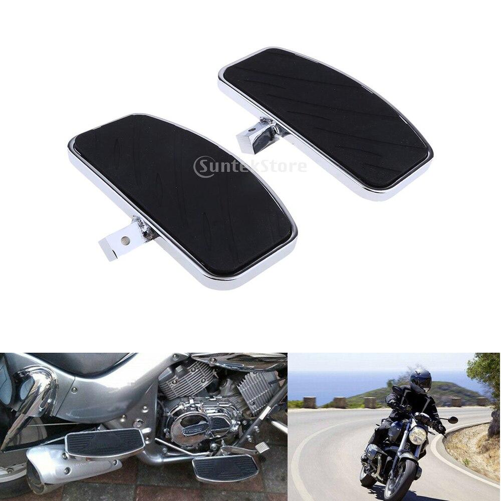 1 Pair Motorcycle Floorboard Front Foot Pegs For Honda Magna VF250 Yamaha V-STAR DragStar XVS 650 / Virago XV125/250/400