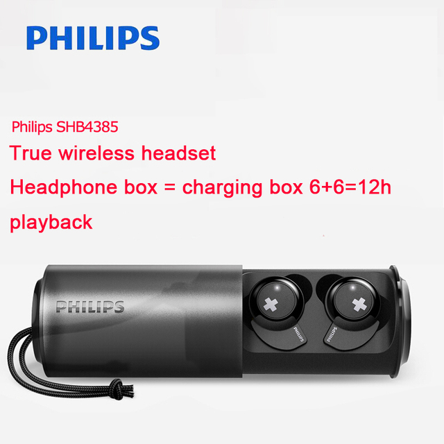 Philips Wireless Headset SHB4385 with Bluetooth 4.1 Lithium polymer Volume Control for Iphone X Galaxy Note 8 Official Test