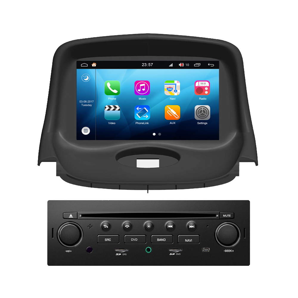 Android 8.0 For <font><b>Peugeot</b></font> <font><b>206</b></font> 206CC 206SW Car Media DVD GPS Navigator Navigation Multimedia Android System Auto Radio Stereo image