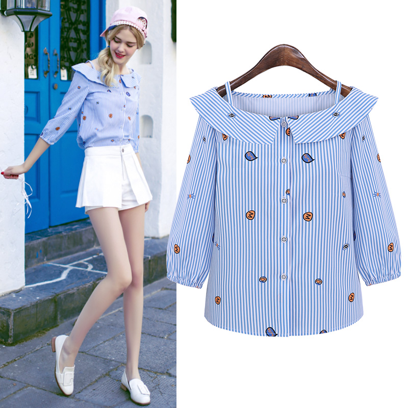 Cold shoulder tops lovely cute cold shoulder blouse for teenagers kawaii tops for teenagers summer style AA691