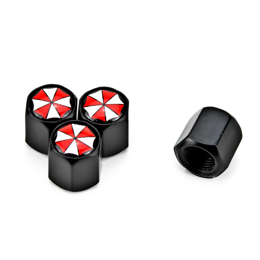4 X Umbrella Corporation Metal Car Wheel Tire Valve Caps Covers Auto Accessories For Ford Focus 2 3 Fiesta ST RS Mustang Mk1