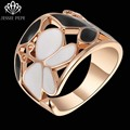 Jessie Pepe Italina Elegant Butterfly Rings Aliancas For Women Fashion Top Quality  Rose Gold PlatedWelcome Wholesale#JP95371