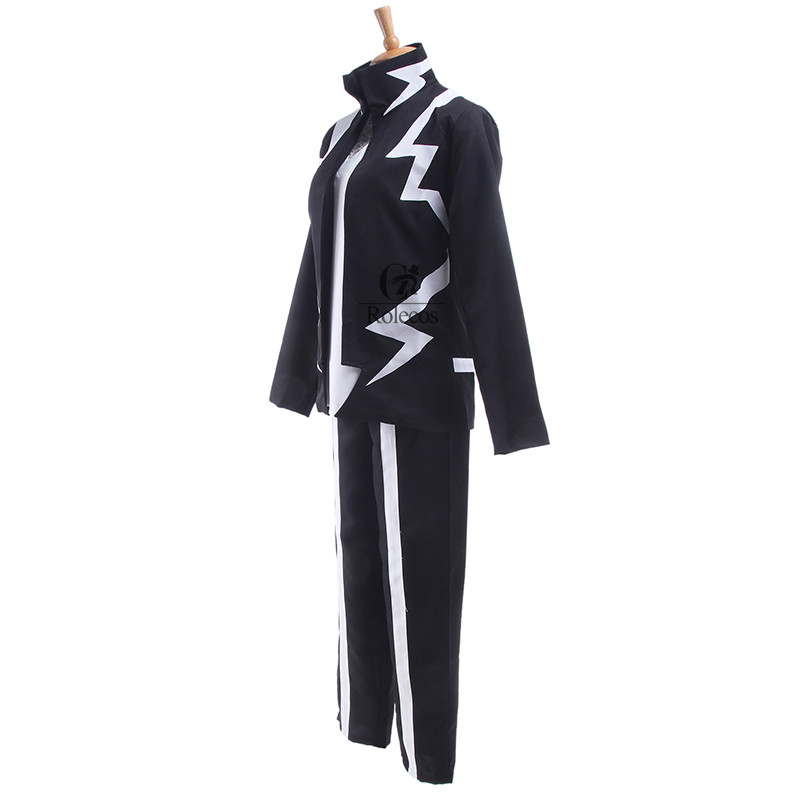 ROLECOS Boku no Hero Academia Anime Cosplay My Hero Academia Kaminari Denki Cosplay Costume School Uniform Men Battle Costume