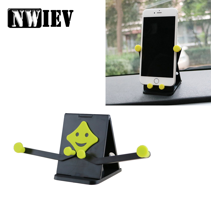 NWIEV Car Smile <font><b>Phone</b></font> Stand <font><b>holder</b></font> For Acura Chevrolet Cruze Aveo Peugeot 307 308 Seat Leon <font><b>Mazda</b></font> 3 <font><b>6</b></font> CX-5 Multifunction stents image