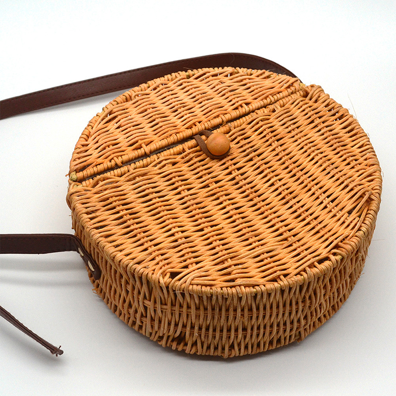 Cover Bamboo Female Rattan Straw Bag Woman Handbag Bolso Mimbre 45 1