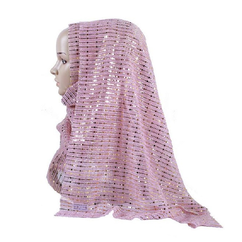 Western style sequined women glitters   scarves   shawl female Muslim sequins viscose hijabs   scarf     wraps   Islamic shimmer muffler
