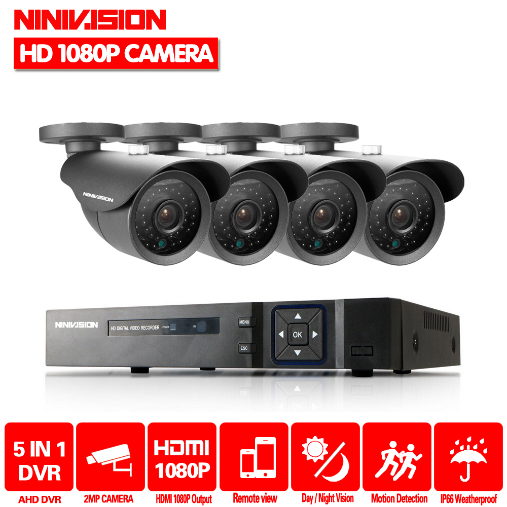 Home Surveillance kit 4CH 1080P 1080N AHD DVR 4 x 3000TVL 1080P 2.0MP Waterproof IR-CUT Bullet Camera Security Kit CCTV SystemHome Surveillance kit 4CH 1080P 1080N AHD DVR 4 x 3000TVL 1080P 2.0MP Waterproof IR-CUT Bullet Camera Security Kit CCTV System