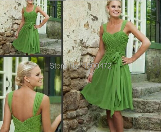 Lime green and gold bridesmaid dresses