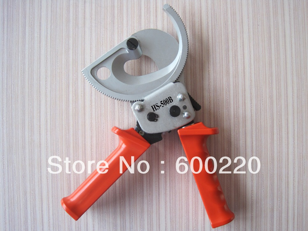 HS-500B ratchet cable cutter with adjustable handle 40mm2 copper cable cutting plierHS-500B ratchet cable cutter with adjustable handle 40mm2 copper cable cutting plier