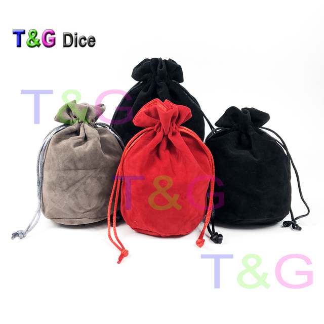 Us 2 98 Aliexpress Dice Bag Double Deck Velvet 6 5 Drawstring Bags Pouches For Gift Board From Reliable
