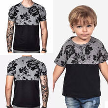 2018 Family matching clothes Matching outfits Tshirt Floral Daddy Kids Baby Love Couple Matching Tee Tops Clothes(China)