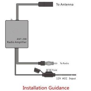 Image 5 - Amplificador de sinal de rádio do automóvel do carro da antena 12 v antena aérea do carro da antena de fm/am