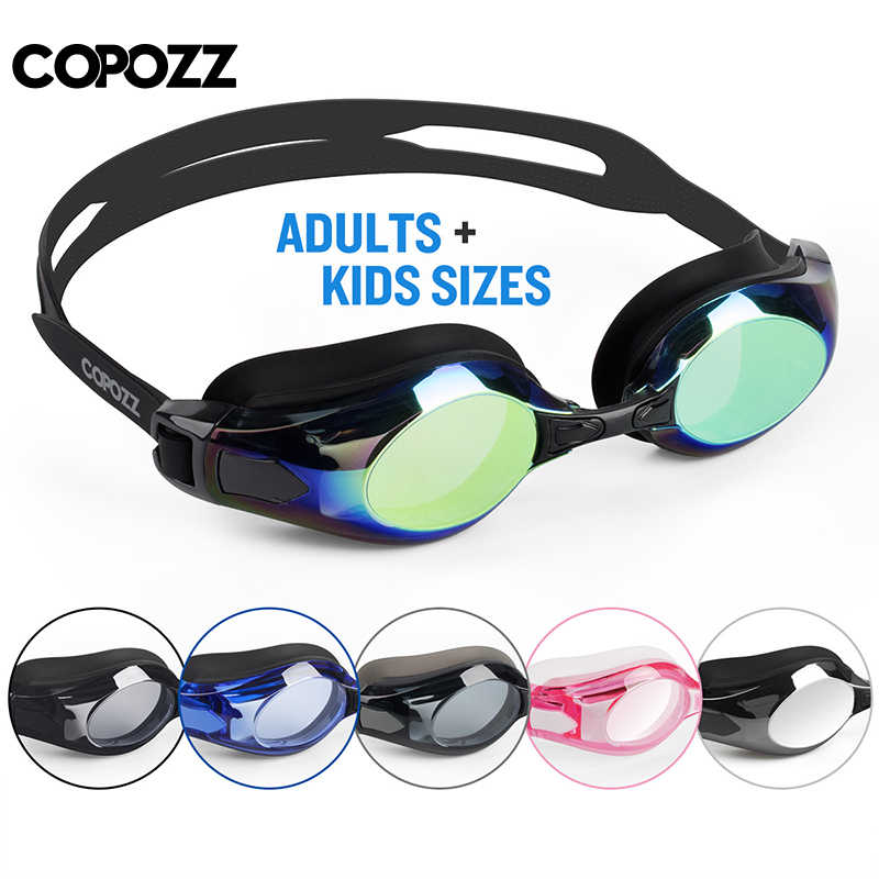 COPOZZ Myopia Swimming Goggles Men Women Adult 0 -1.5 to -8 Double Anti fog UV Protecion Swimming Glasses Pro Diopter Zwembril
