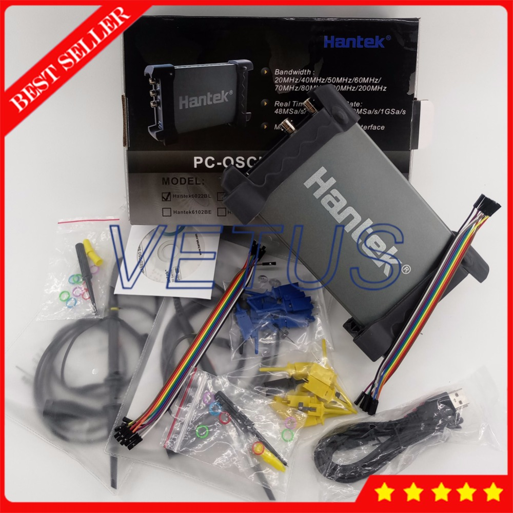 Hantek6022BL PC Based USB Portable Oscilloscope 20MHz 2 Channels Digital Osciloscopio Scopemeter 16 Channels Logic Analyzer цены