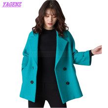 New 2017 Autumn Winter Woolen Jacket Women Korean Thicken High quality Wool coat Young Women Cloak Double breasted Overcoat B261