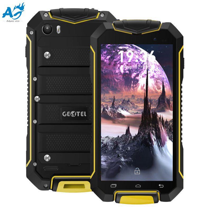 4.5 Pollice Originale Android 7.0 GEOTEL A1 Del Telefono Mobile 3G Smartphone MTK6580 1.3 GHz Quad Core 1G + 8G IP67 Antipolvere Impermeabile Cellulare