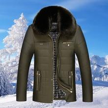 2016 Hot Sale Winter Jacket Men Parka Warm Male Thick Outerwear Turn Down Fur Collar Short Luxury Jacket Pocket Overcoat  MK409