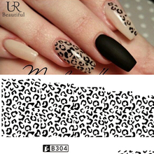 1 Sheet Black/White Leopard Nail Art Water Transfer Stickers Decals Beauty Full Wraps Manicure Decoration DIY Accessory BEB304 все цены