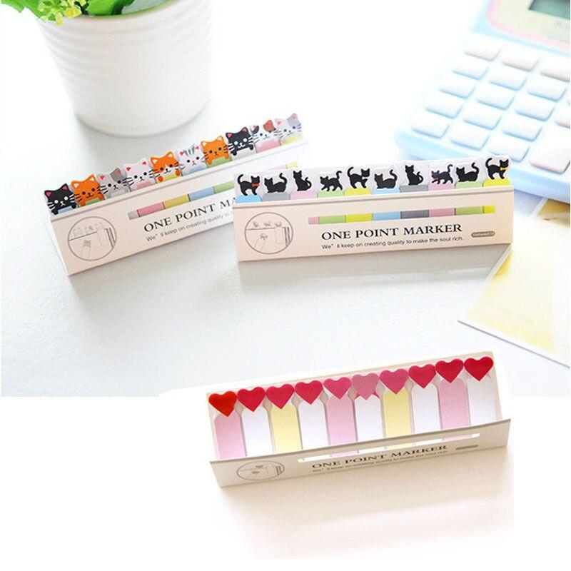 все цены на cute kawaii diy memo pad sticky Notepaper Post note cartoon animal bear cat heart frog sticker office school supplies