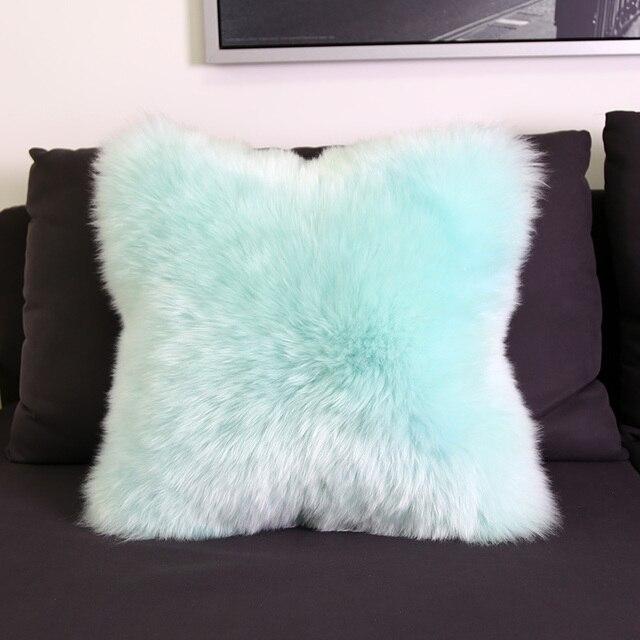 Sumijia Australia 100 Wool Cushions Sheepskin Fur Cushion Filled Insert Include Inner Pp Cotton Throw