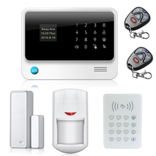 HOT sale alarm system 433 MHz IOS+Android APP controlled home security with RFID wireless keypad easy to operate Good quality