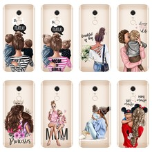 Black girl Baby Women Mom Phone Case For Pocophone F1 Xiaomi Redmi Note 4 4X 5A 6 Pro Prime S2 4A 6A 5 Plus Silicone Back Cover(China)