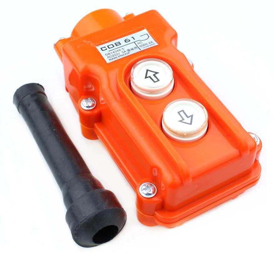 Crane Pendant Control Push button Switch Hoist Station Up-Down Rainproof US CA
