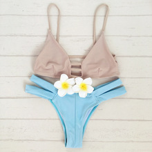 Hot new bikini bandage swimsuit sexy swimsuit female swimwear 2017 swimsuit beach Brazil Bikini suit sportswear go camping Bain