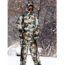 Cold Weather Thicken Lining Fleece Pine camouflage Snow Bionic Hunting Coat Jacket and trousers Winter Waterproof Ghillie Suits