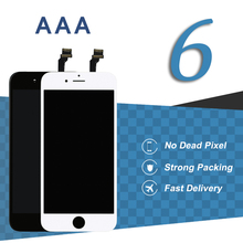 10pcs NO.1 High AAA Quality Screen LCD for iphone 6 LCD With No Dead Pixel Display Assembly Replacement With Frame+Camera Holder