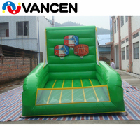 Beautiful inflatable basketball shooting game equipment 2.5*1.3m kids size inflatable basketball hoop shoot games