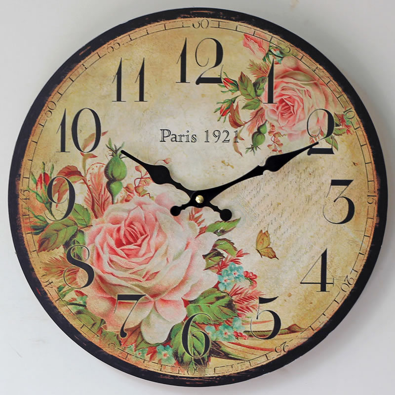 on sale large wall clocks retro wooden silent vintage home decor big wall watches relojes