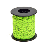 Tent Rope Double Reflective Guy line Cord 164ft with Bobbin High-Visibility Tent Rope Guy Lines for Tents Hiking Camping