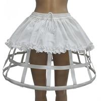 White Vintage Mini Ball Gown Petticoat Lolita Underskirt Women Fluffy Pettiskirt Wedding Sexy Skirt Club Wear Skirts Womens 2018
