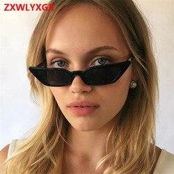 ZXWLYXGX 2018 neue mode sonnenbrille sonnenbrille ms. mann retro bunte transparent kleine bunte CatEye Sonnenbrille