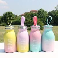 Siliconen Touw Hot Melk Fles Dubbeldeks Warm Houden Roestvrijstalen Thermische Cup Kids School Dagelijks Drinken Mooie Thermosfles