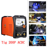 220V TIG200P AC DC Tig Arc Welder Aluminum Welding Inverter Welding Equipment Functional Long Distance Control Machine