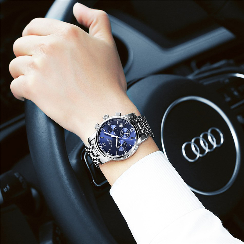GUANQIN Relogio Masculino Męskie zegarki Top Marka Luksusowe Zegarek - Męskie zegarki - Zdjęcie 6