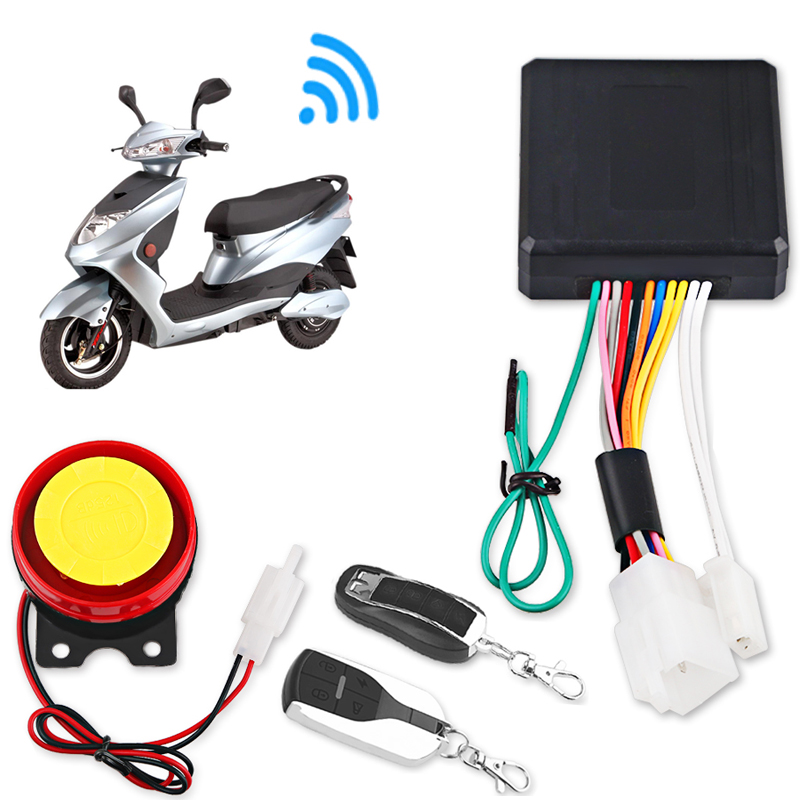 Anti-Theft Motorcycle Moto Bike Security Alarm System Remote Control Key Shell Motorbike Scooter Motor Alarm With Remote Start