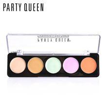 Бренд вечерние queen 5 цветов крем консилер палитра макияж натуральный