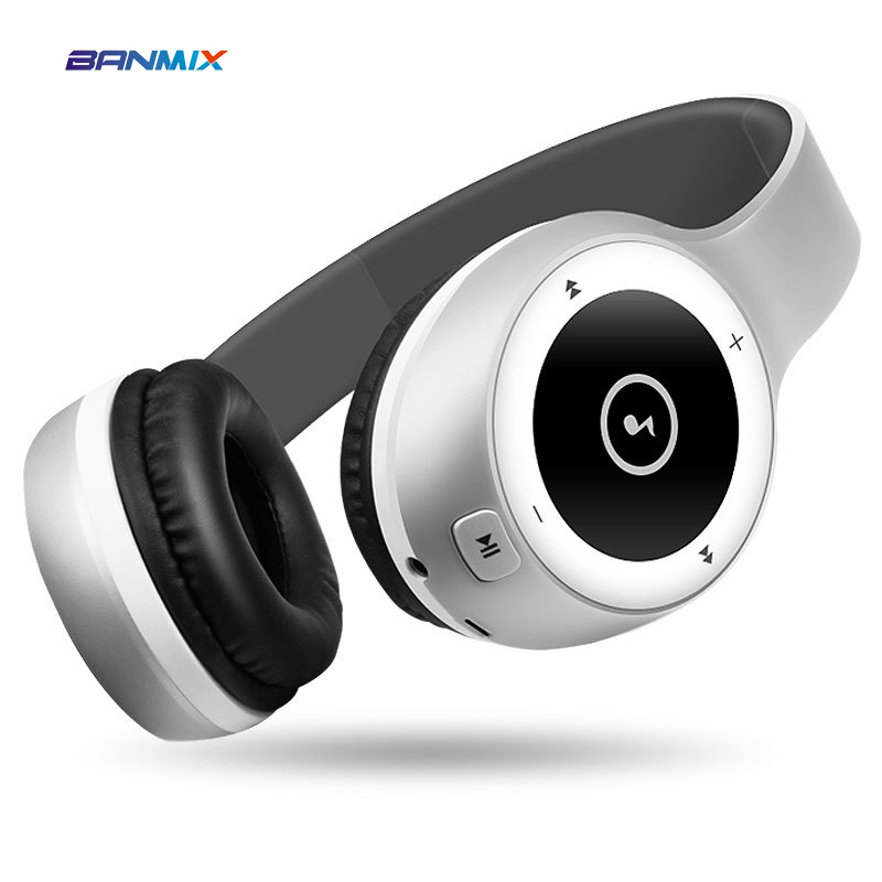 BANMIX Noise Cancelling Bluetooth Headphones Wireless Headset Deep bass stereo Headphones with Microphone for phone