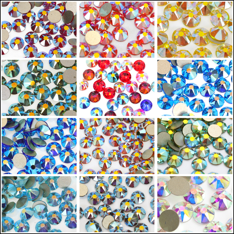 2088 Best Quality 16 Cut Facets Crystal AB Non Hot Fix Rhinestones AB Colors  Glitter Rhinestones For Nail Art Decoration B0947-in Rhinestones from Home  ... 42ab18f85847
