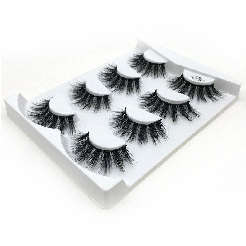 80 Pairs Eyelashes natural handmade 3D Mink Lashes volume soft lashes long eyelash extension real mink