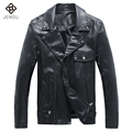 Hot Sale Men Fashion Leather Jackets 2017 New Men PU Jackets Coats Slim Fits Motor Cool Coats Men Slim Fits PU Coats 5XL Plus