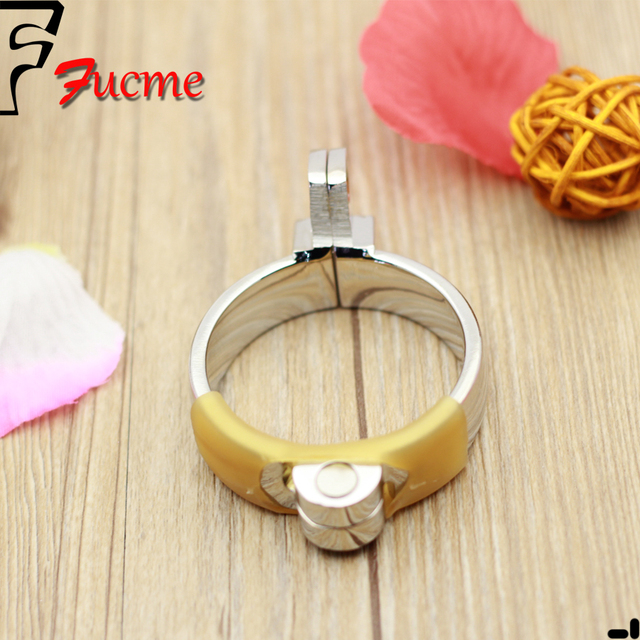 Male Chastity Metal Cock Ring 4 Size Adult Supplies Stainless Steel Chastity Is Dedicated old Snap Ring sex toys adult product