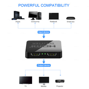 Image 3 - HDCP 4K HDMI Splitter Full HD 1080p Video Switch HDMI Switcher 1X2 Split 1 in 2 Out Amplificatore doppio Display Per HDTV DVD PS3 Xbox