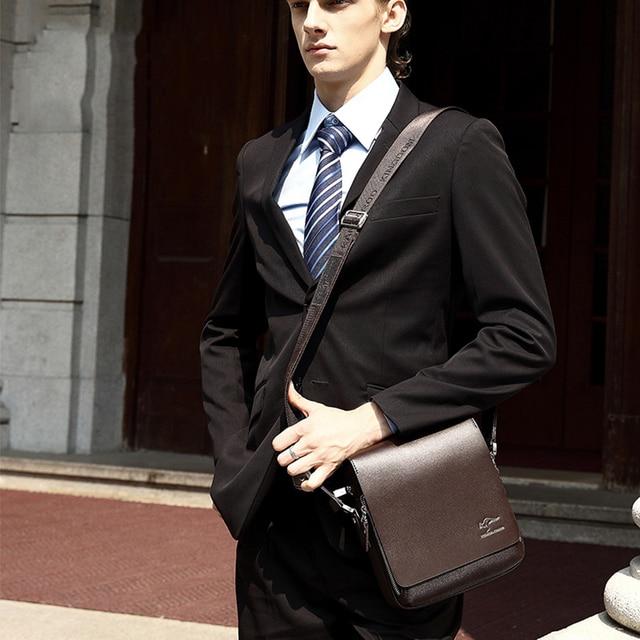 Kangaroo Luxury Brand Men's Messenger Bag Vintage Leather Shoulder Bag 10