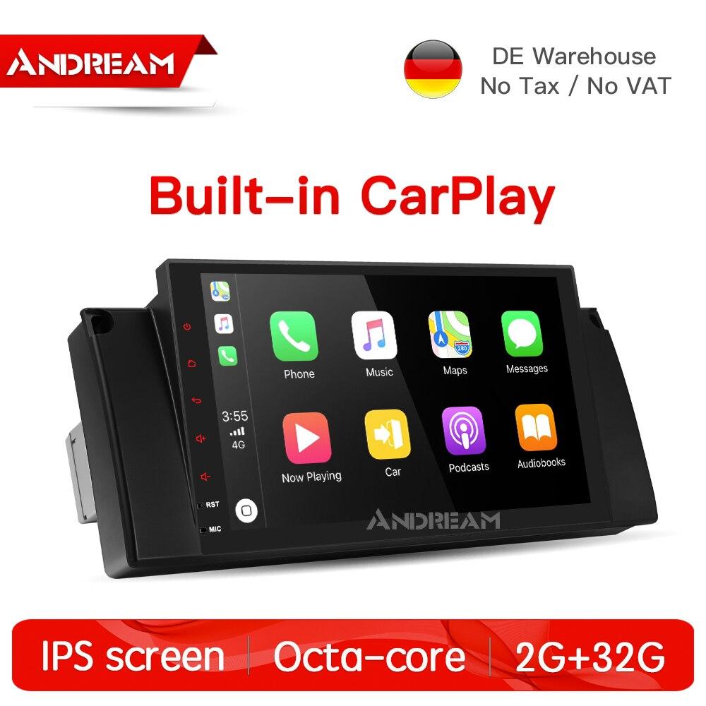 Octa-core Android 8.1 2g + 32g 2.5D IPS écran Intégré CarPlay Pour BMW E39 E53 Soutien GPS Navigation 4g FM Radio
