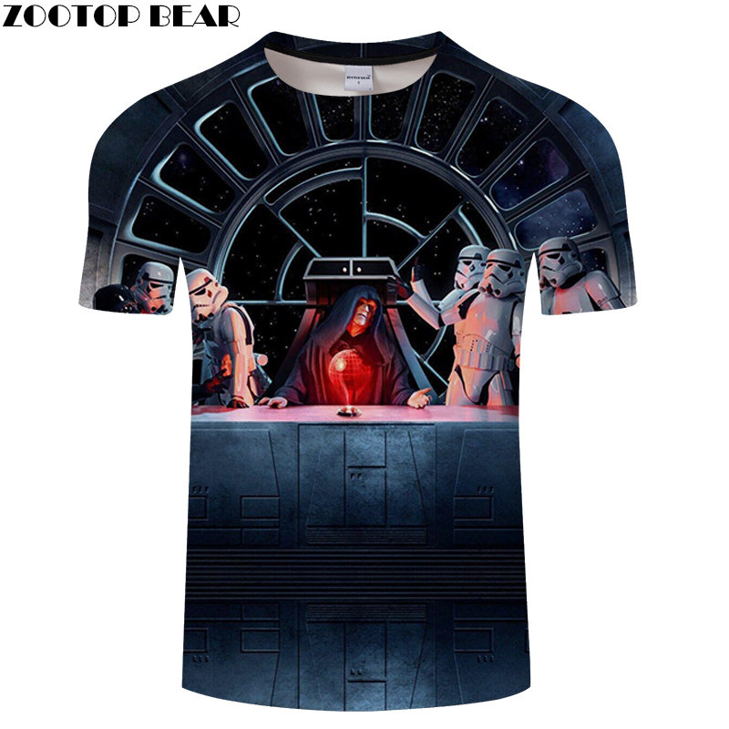 Star Wars 3D Print Men Shirts NEW Style Fitness Breathable Top Bodybuilding Tees Summer Casual Quick Dry Male Shirt ZOOTOPBEAR