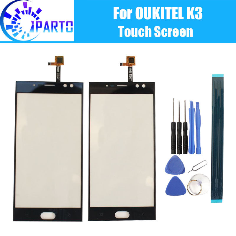 Oukitel K3 Touch Screen Glass 100% Guarantee Original Digitizer Glass Panel Touch Replacement For OUKITEL K3
